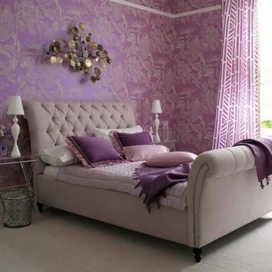 Фиолетовая спальня в нежных тонах