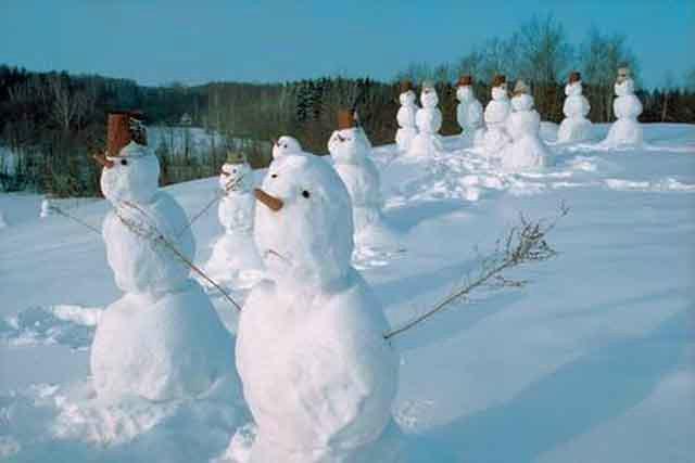 Лепим снеговиков! Красивых и разных!