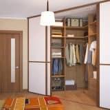 Дизайн проект гардеробной в спальне