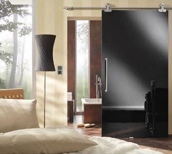 Непрозрачная стеклянная дверь в ванную комнату