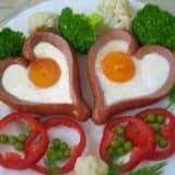 Еда в виде сердца