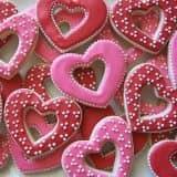 Печенья сердечками