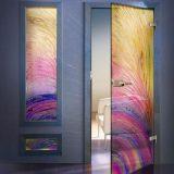 Цветная стеклянная дверь