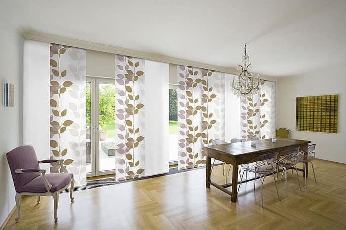 Вертикальные шторы для низких потолков