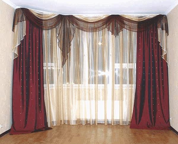 Скрытый карниз штор для низких потолков