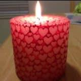 Свеча из сердечек