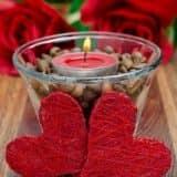 Свечи на день Влюбленных