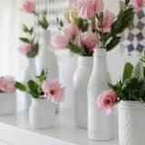 Белые вазочки кантри