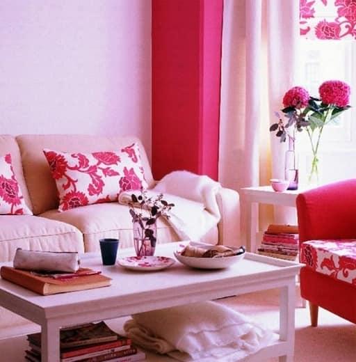 розовые весенний интерьер фото