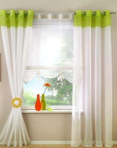 Зеленый оранжевый - весенние цвета в нейтральном интерьере