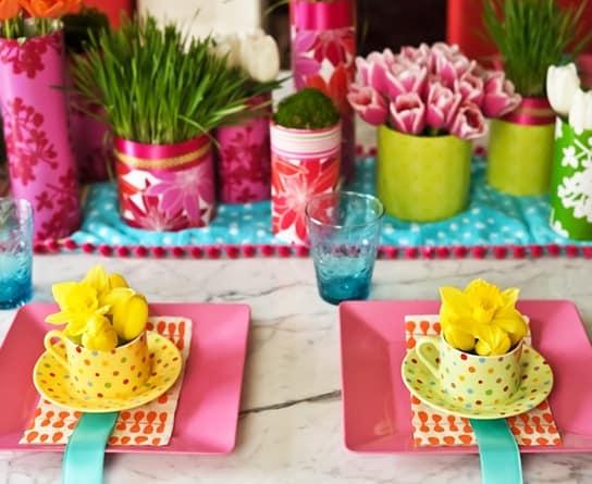 Яркие детали в весенних оттенках цвета