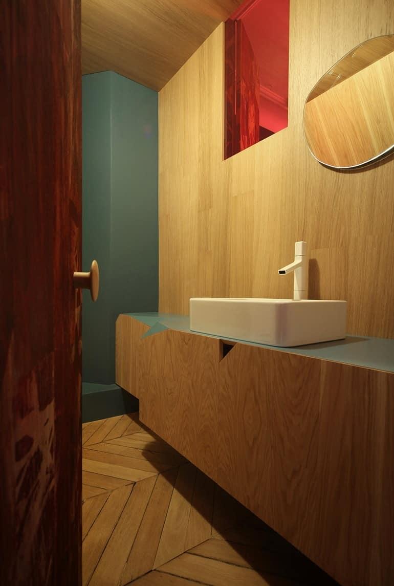 Ванная в квартире в стиле сказки о Красной шапочке