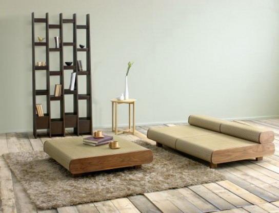 Низкая мебель - элементы японского стиля