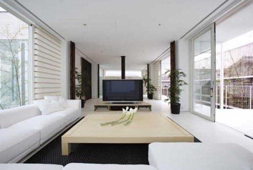 Вилла в японском стиле - гостиная