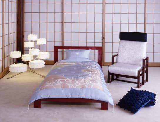 Спальня в минималистичном японском стиле