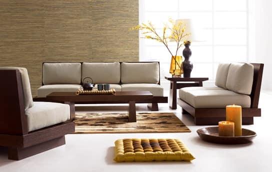 Уютная гостиная в японском стиле