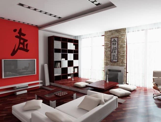 Японский интерьер гостиной