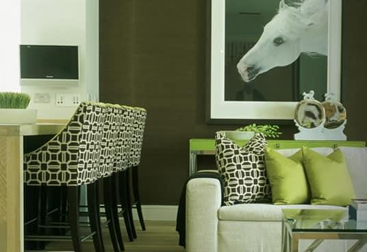 Детали зеленого цвета в интерьере