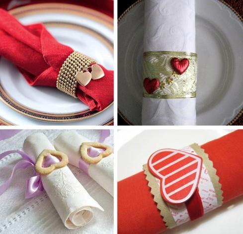 Украшаем сердечками приборы для романтического ужина на 8 марта