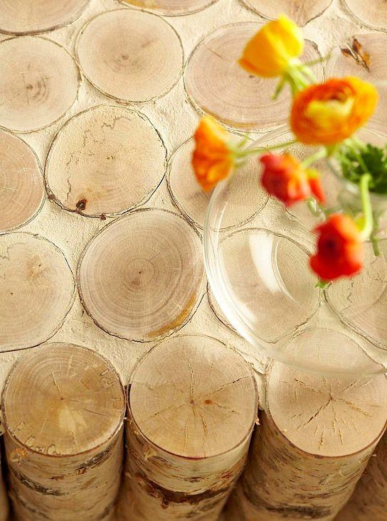 Журнальный стол из березовых поленьев своими руками фото