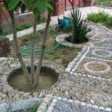 Мозаичная дорожка для сада