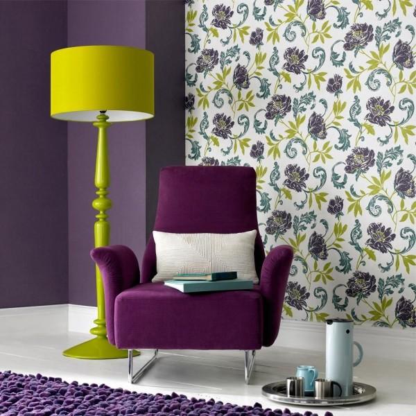 Желтый и фиолетовый: сочетание цветов и принтов