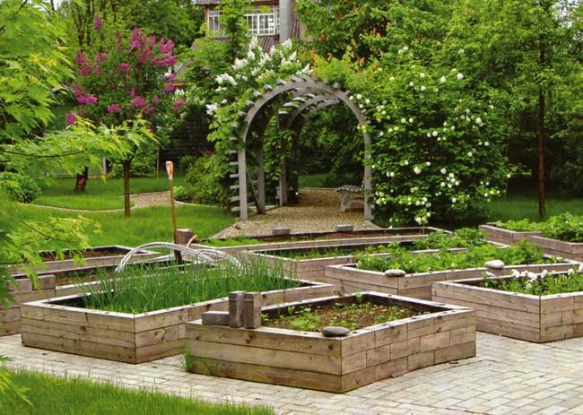 Простой декоративный огород своими руками