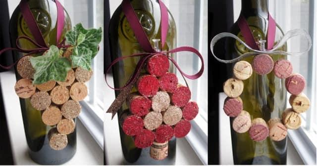 Подвески для украшения бутылок из винных пробок своими руками