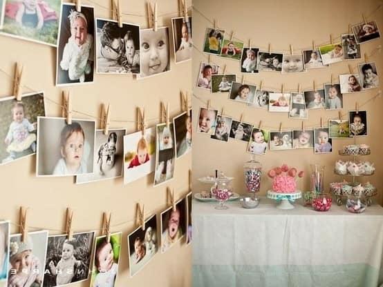 Украшаем квартиру семейными фото на 8 марта