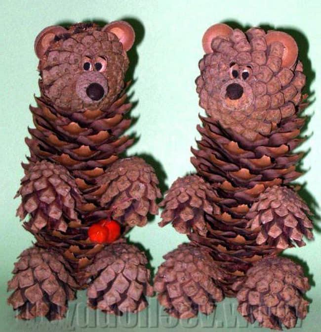 Мастер-класс: делаем медведя из шишек