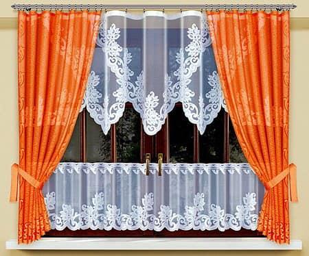Выбираем оранжевые шторы на кухню