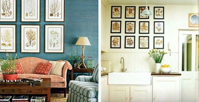 Декорирование природными материалами украсит и кухню, и гостиную