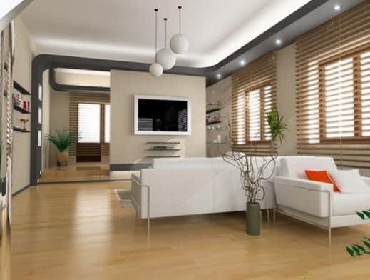 Декорирование сухими ветками помещения в стиле минимализм