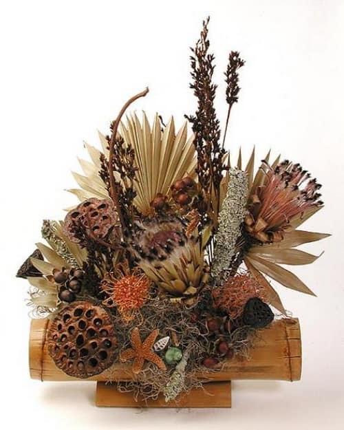 Букет из сухих растений для декорирования помещений