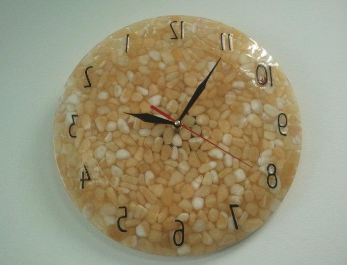 Часы, наполненные зерном - для декора кухни