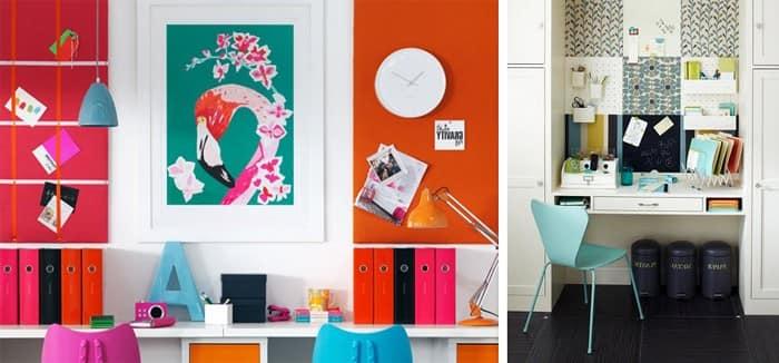 Доска для стикеров и записок над рабочим столом фото