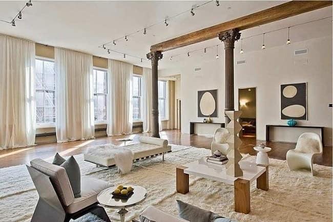 Необычная мебель для интерьера в стиле лофт - гостиная