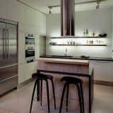 Освещение лофт кухни