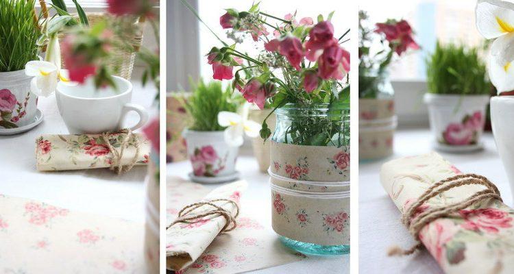 Как можно использовать текстиль для весеннего декора: сервировка стола