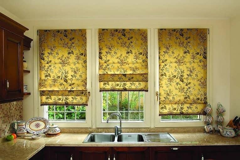 Выбираем шторы, занавески и жалюзи на кухню фото