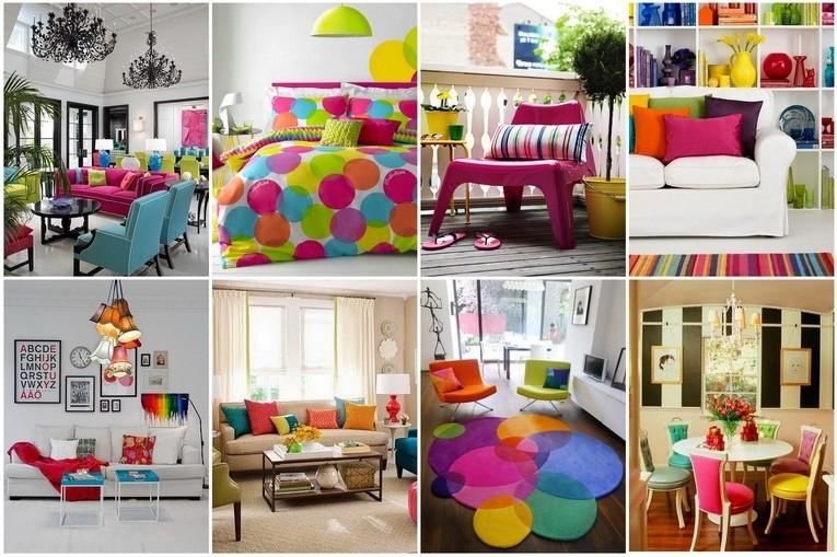 Яркие краски и цвета в интерьере квартиры фото