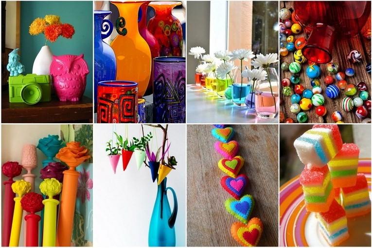 Разноцветные детали интерьера - добавим в дом ярких красок фото