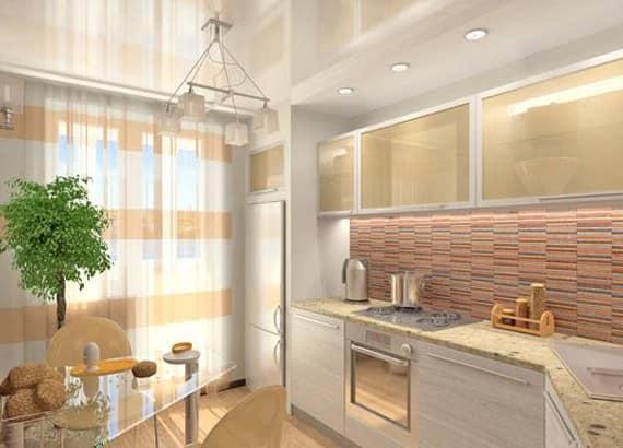 Легкие, прозрачные шторы тюль на кухне, чтобы было больше света