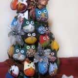 Новогодняя елка из мягких игрушек