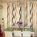 Волнистые япноские кухонные шторы