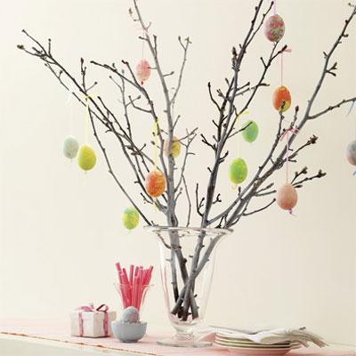 Пасхальное дерево может стать главным компонентом праздничного декора