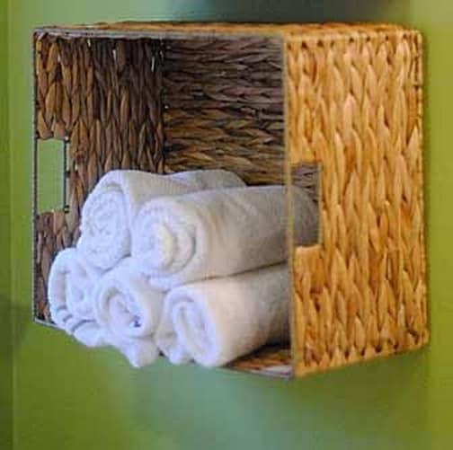 Оригинальные полки для полотенец - украшение интерьера ванной