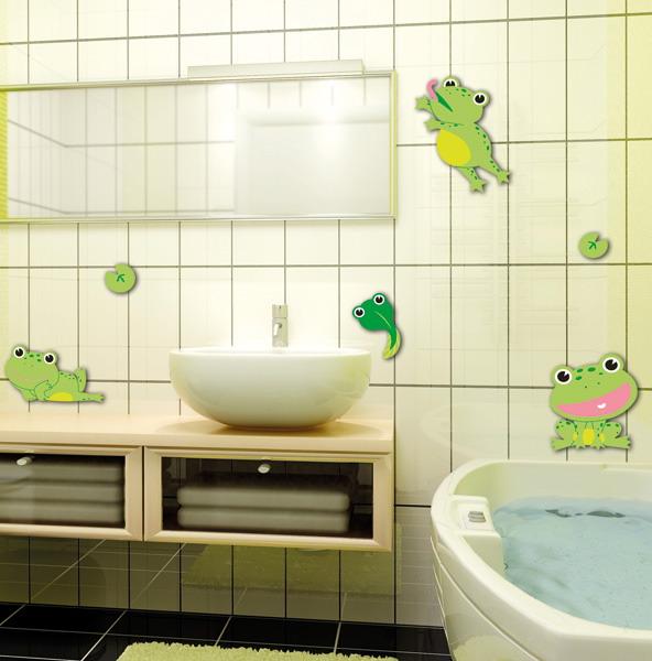Интерьерные наклейки - оригинальное украшение для белого интерьера ванной