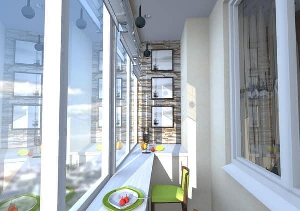 Барная стойка на балконе вместо подоконника фото