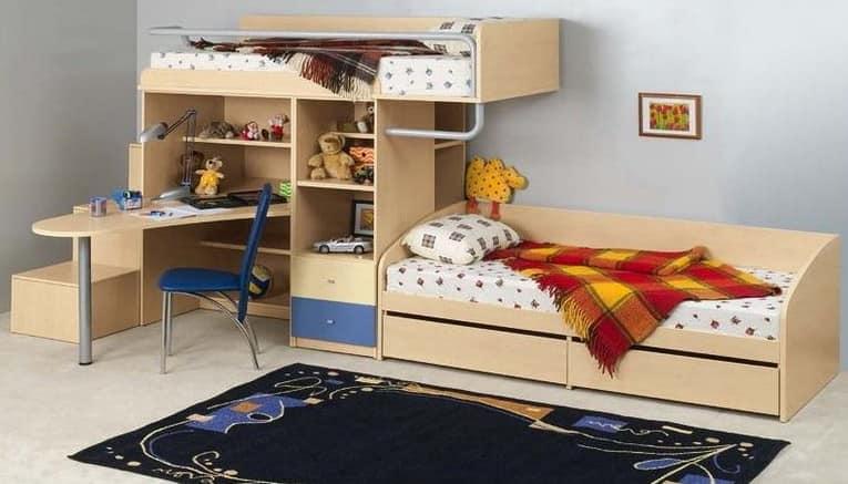 Компактный детский уголок для однокомнатной квартиры фоо